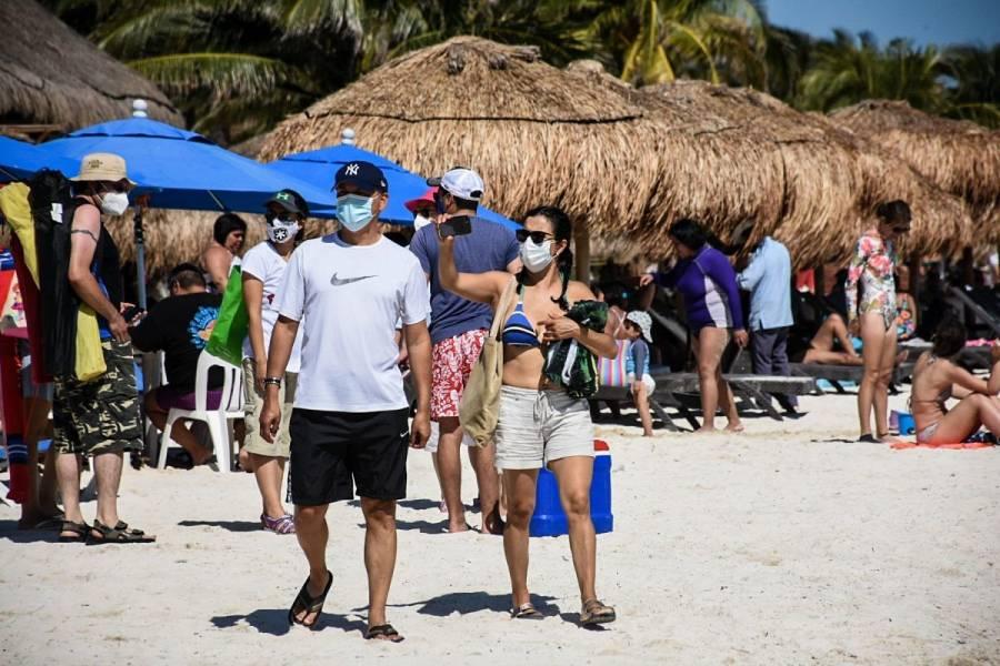 Turismo extranjero en México cae 44.3% en diciembre de 2020