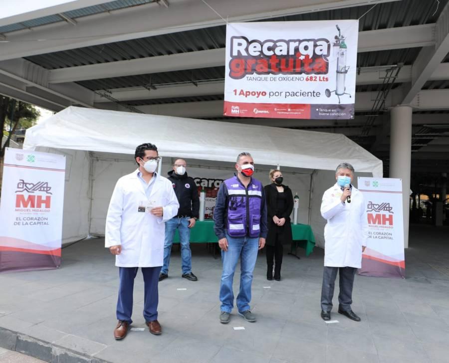 Ofrece Alcaldía Miguel Hidalgo recarga gratuita de oxígeno