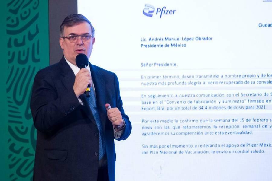 Se congratula Marcelo Ebrard por autorización de uso a vacunas CanSino y Sinovac