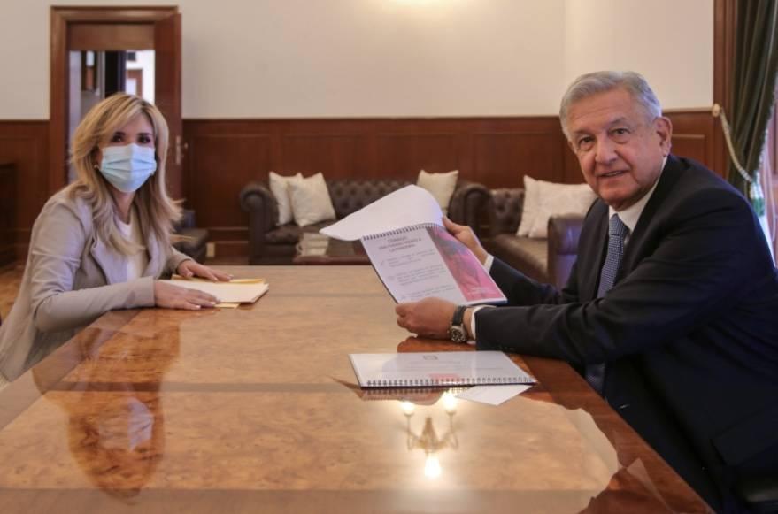 AMLO y Claudia Pavlovich se reúnen para tomar acciones sobre la pandemia