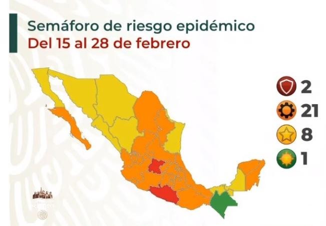 Chiapas regresa al semáforo verde; Guerrero y Guanajuato en rojo