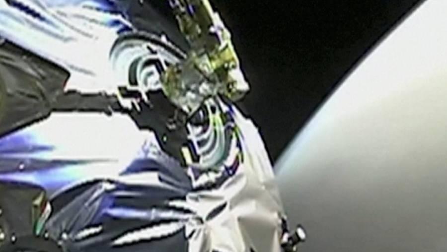 China envía videos de su sonda en la órbita de Marte