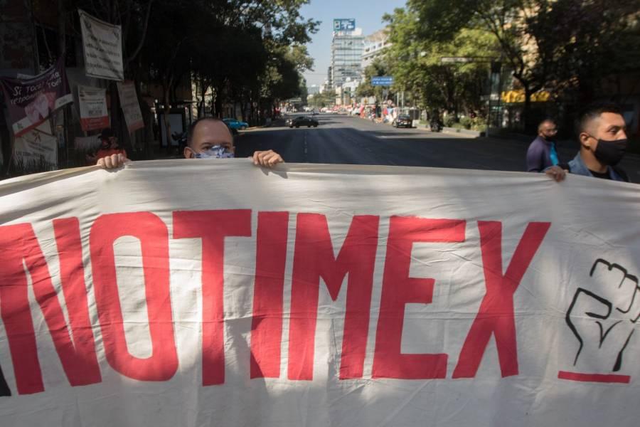 Trabajadores de Notimex y La Jornada se reúnen con la Segob