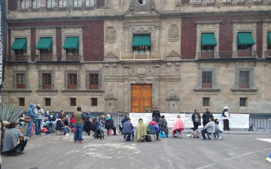 Decide CNTE instalar plantón afuera de Palacio Nacional