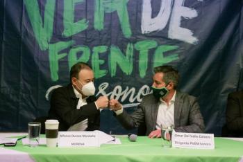 Registra Alfonso Durazo su candidatura ante el Partido Verde Ecologista