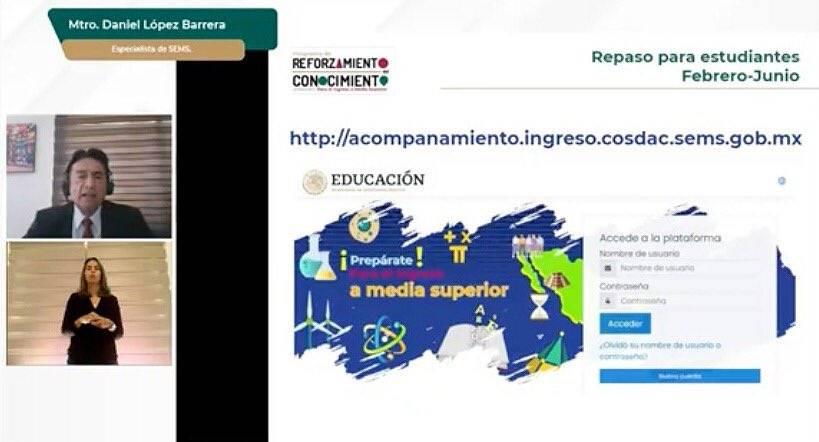 Presenta SEP estrategia Reforzamiento del Conocimiento para estudiantes de Bachillerato