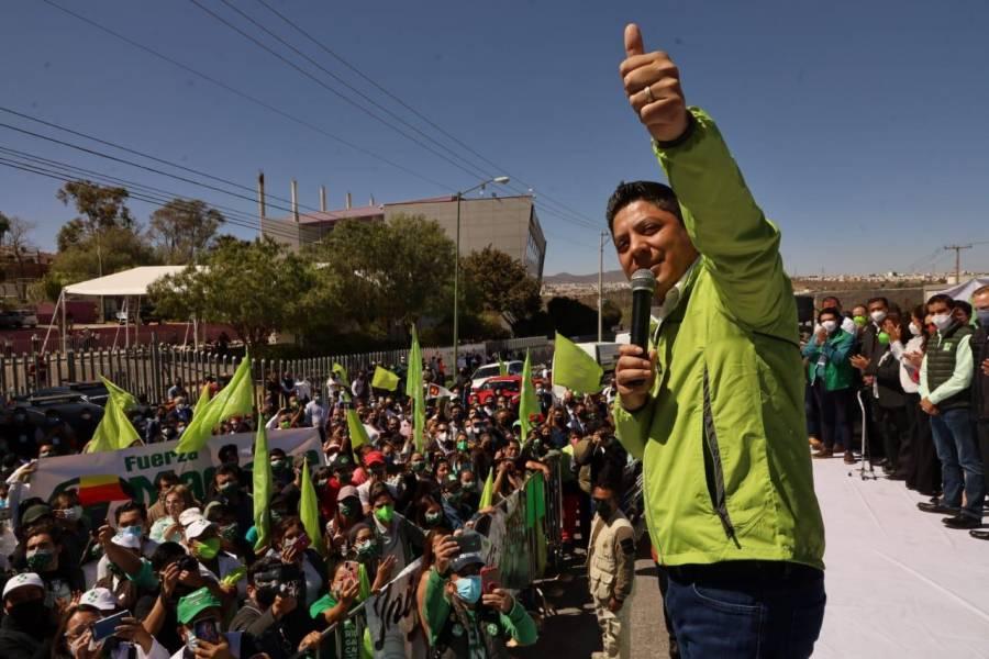 Ricardo Gallardo, candidato a gobernador por PT-PVEM