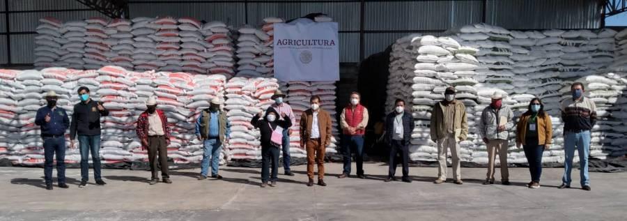 Alcanza Tlaxcala más del 47% en la entrega fertilizantes