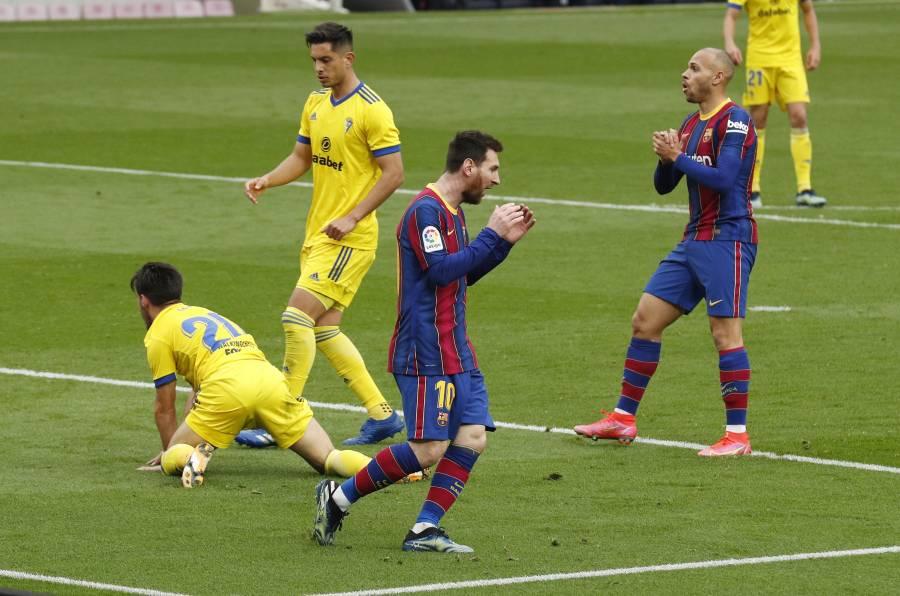 Barcelona empata ante el Cádiz y da un paso atrás en LaLiga
