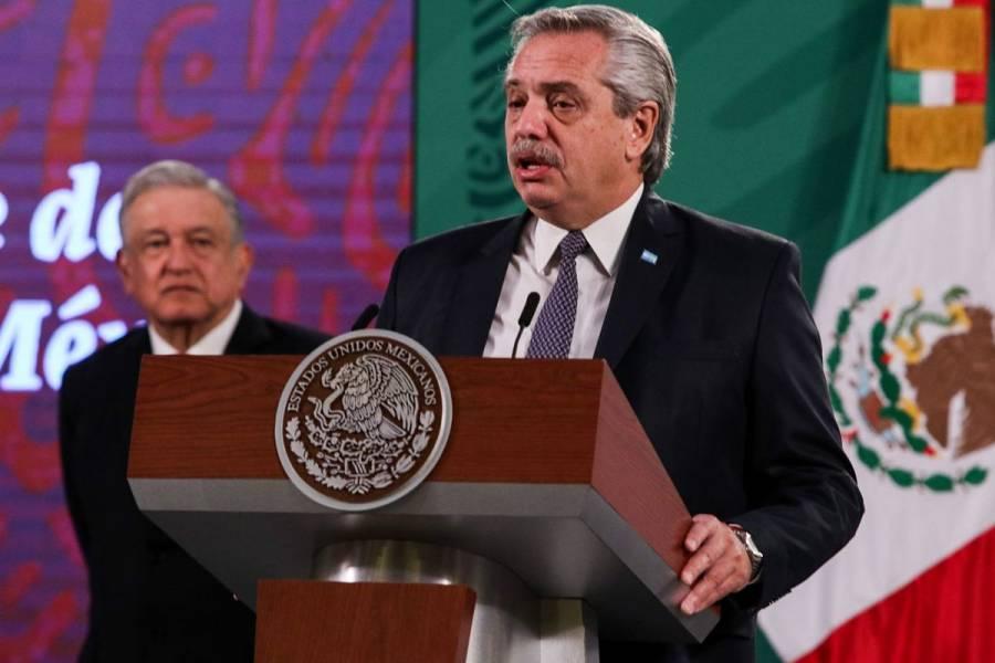 """""""El México de AMLO es otro México a la vista del mundo, un ejemplo"""": Alberto Fernández"""