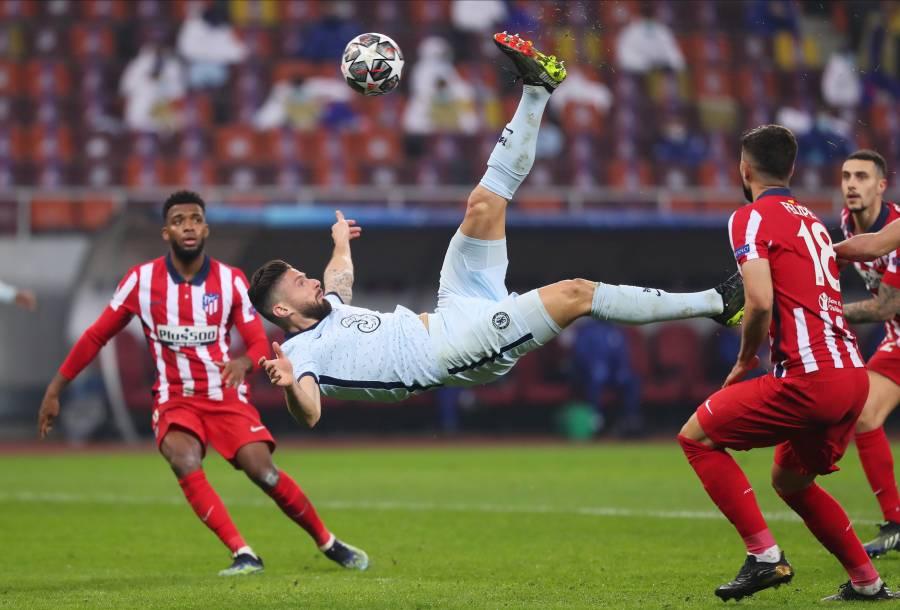 Chelsea gana al Atlético de Madrid con una chilena de Giroud