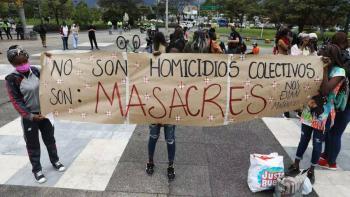 Reporta ACNUDH 76 masacres en Colombia en 2020