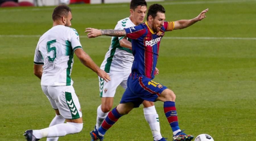 Lionel Messi le da al Barcelona la victoria ante el Elche