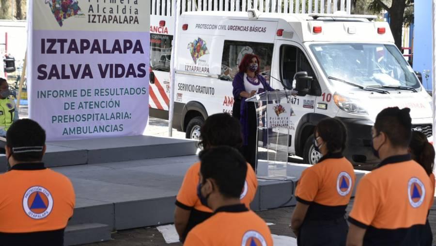 Brindan más de 18 mil atenciones pre hospitalarias ambulancias de Iztapalapa