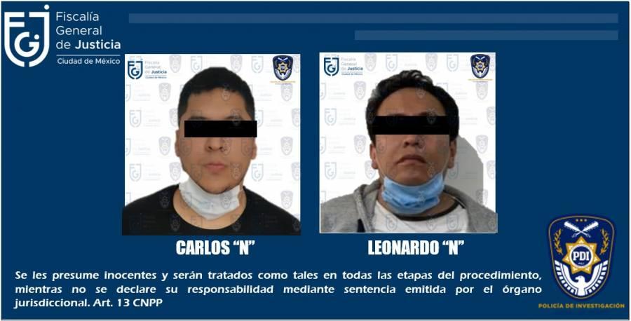 FGJ captura a sujetos señalados por robo y homicidio