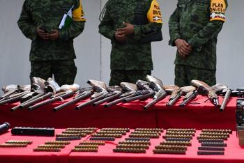 567 armas de fuego entran a  México desde EU cada día