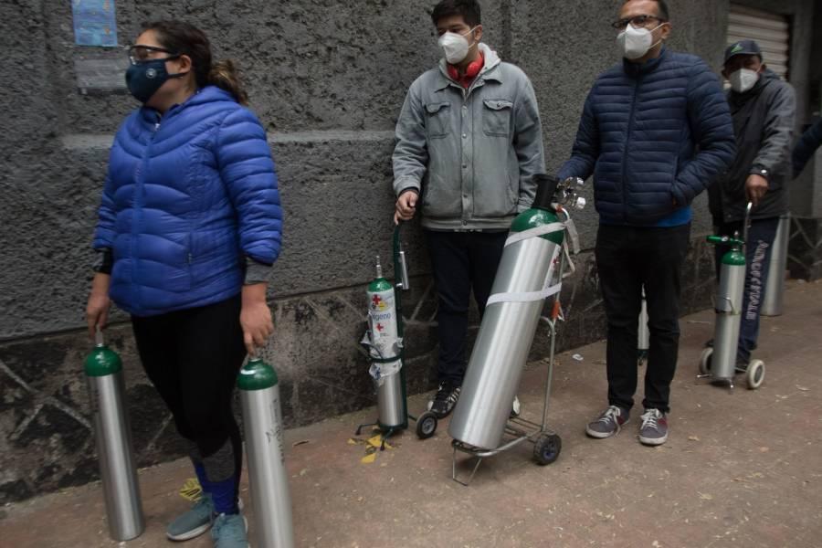 Por Covid, 1.1 millones de tanques de  oxígeno se consumen cada día en el mundo