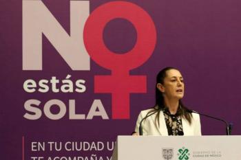 Destaca Sheinbaum alerta de género en la CDMX