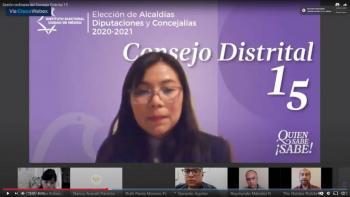 Realizan la primera sesión ordinaria virtual de trabajo los 33 Consejos Distritales del IECM