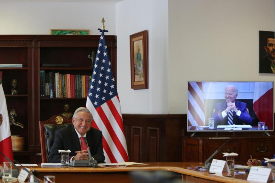Reafirman profunda asociación México-Estados Unidos presidentes de ambos países en reunión virtual