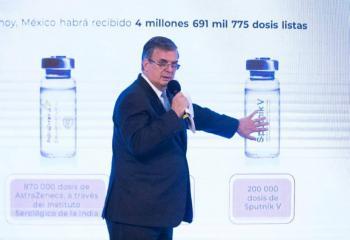A finales de marzo estará lista la vacuna envasada en México: Marcelo Ebrard
