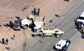 Mueren al menos 10 mexicanos en accidente vial en California, EE. UU.