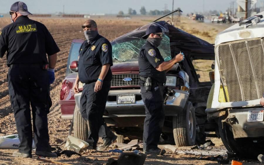 Transportaba migrantes y cruzó ilegalmente la frontera camioneta que chocó en California