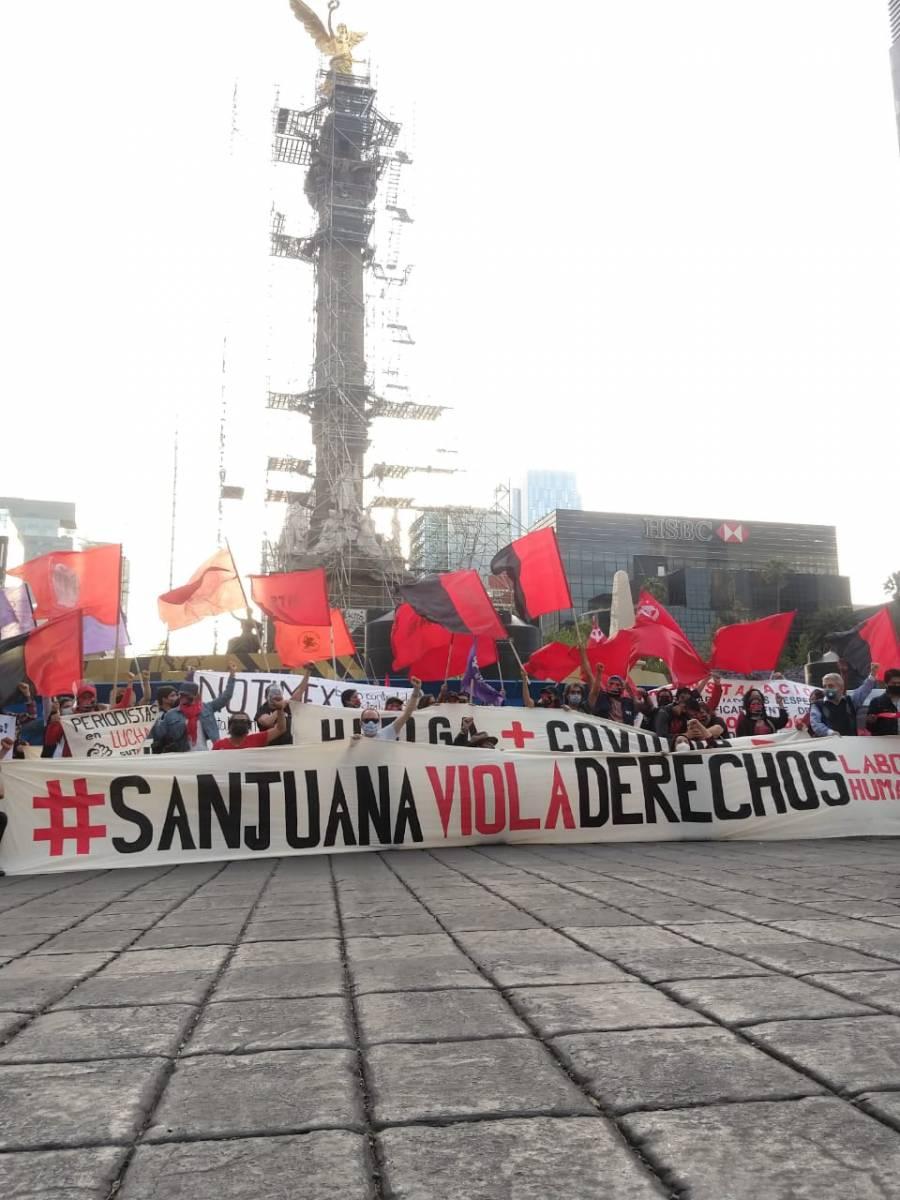 Denuncian que Sanjuana Martínez no asistió a reunión conciliatoria que ella misma convocó