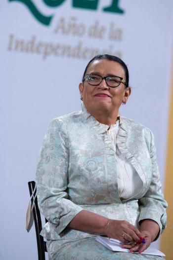 """""""Sólo fue una audiencia como la de cualquier ciudadano"""": Rosa Icela Rodríguez sobre Florian Tudor"""