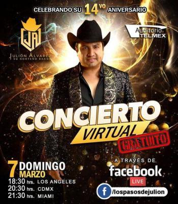 Concierto gratis y virtual de Julión Álvarez