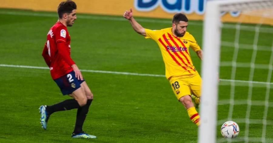El Barcelona gana ante el Osasuna 2-0