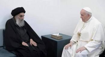 En Irak, papa Francisco se reúne con el ayatola Ali al-Sistani