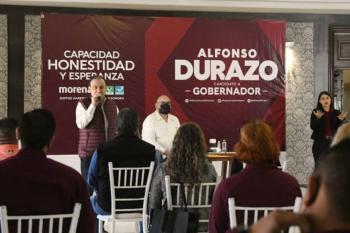 Alfonso Durazo se compromete a rescatar el sector salud en Sonora