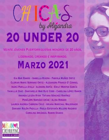 Reconocen a 20 niñas que están sirviendo de inspiración