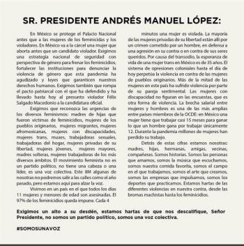 """Celebridades confrontan a AMLO: """"Una mujer que aborta va a la cárcel antes que un candidato violador"""""""