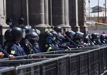 """Policía CDMX reporta que el grupo """"Ateneas"""" no llevan consigo gas lacrimógeno"""