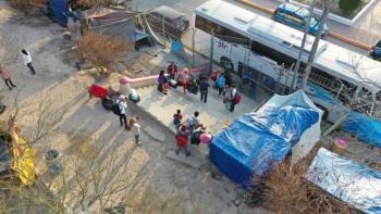 Desmonta INM campamento de migrantes en Matamoros