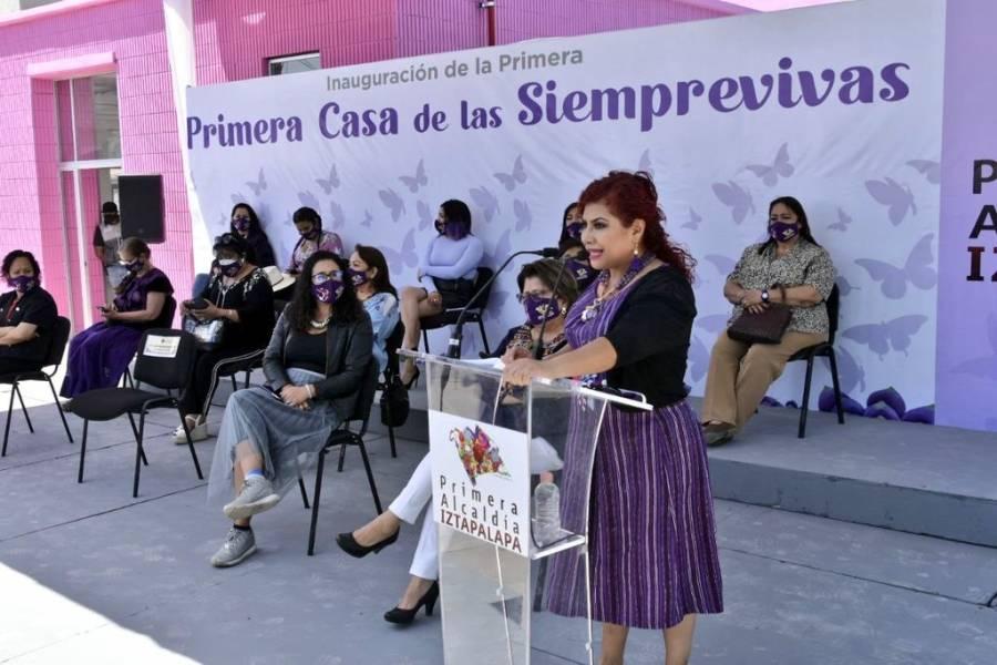 """Inauguran """"Casa de las Siemprevivas"""" en Iztapalapa para apoyar a mujeres víctimas de violencia"""