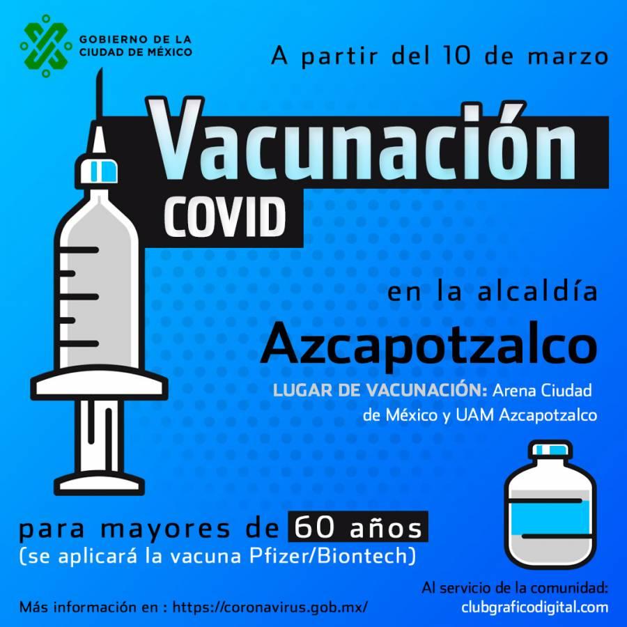 Inicia aplicación de vacuna contra Covid en Alcaldía Azcapotzalco