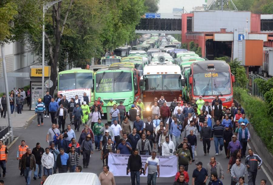 Mañana miércoles, transportistas podrían paralizar la CDMX