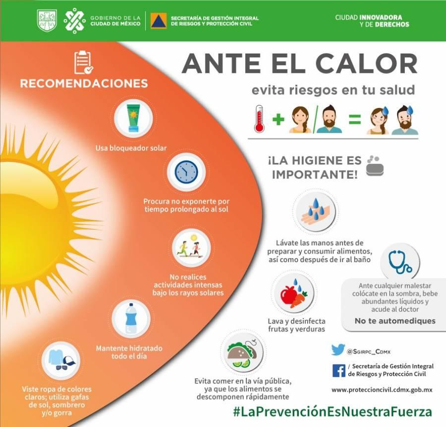 Activan alerta amarilla por calor en nueve alcaldías