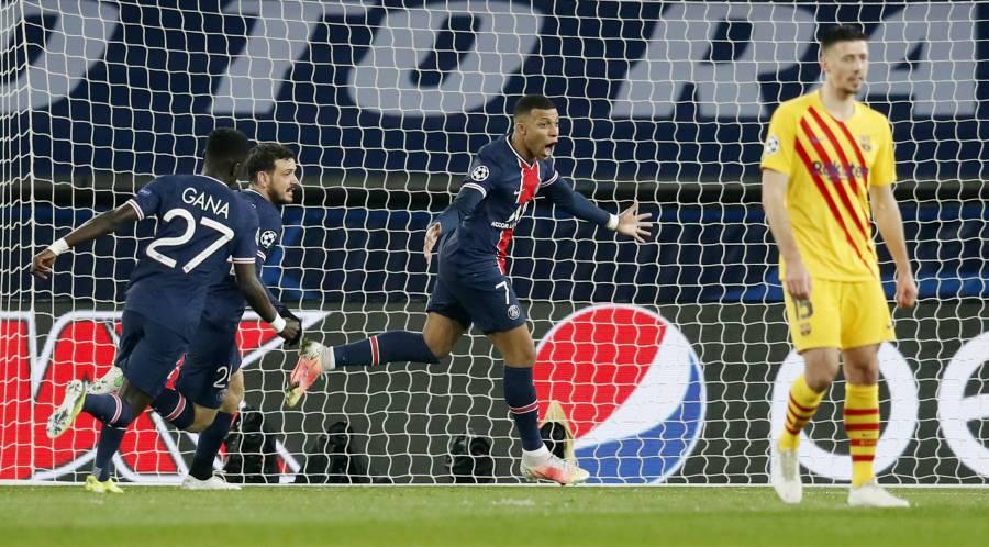 Un PSG superado, logra eliminar al Barcelona en la Champions