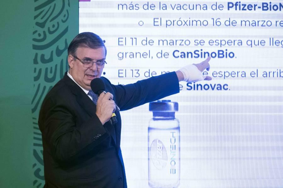México comprará 22 millones más de dosis chinas: Ebrard