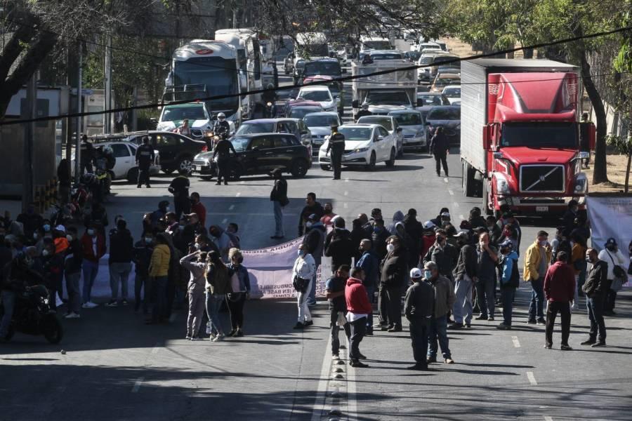 Tras bloqueos, transportistas liberan vialidades en la CDMX