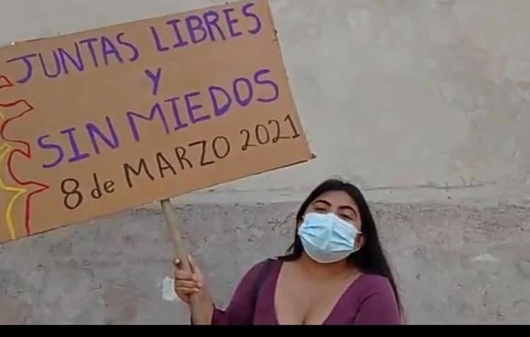 Astrid, la joven que marchó sola el 8M en Veracruz