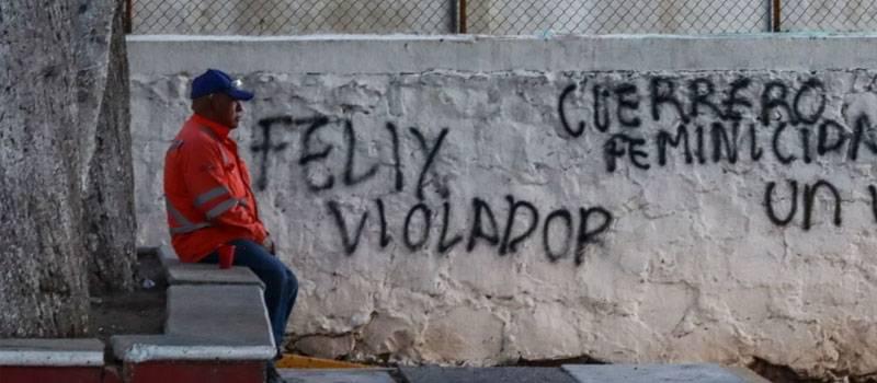 Feministas realizan pintas contra Salgado Macedonio y previo al evento, otros las borran