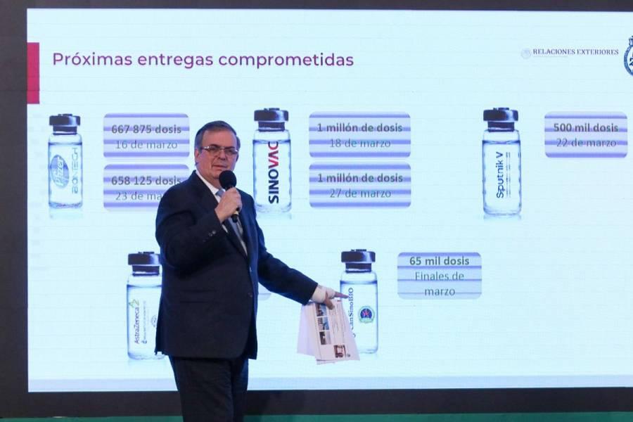 Se acelera llegada de vacunas: Marcelo Ebrard