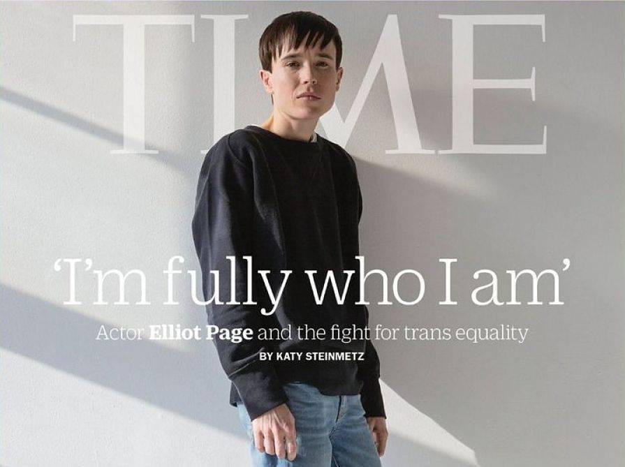 Elliot Page, portada de Time en su primera entrevista como transgénero