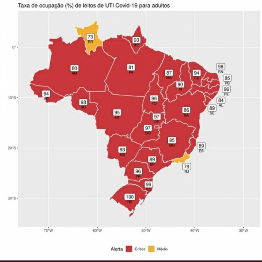 Supera Brasil las 2 mil 800 muertes diarias por Covid