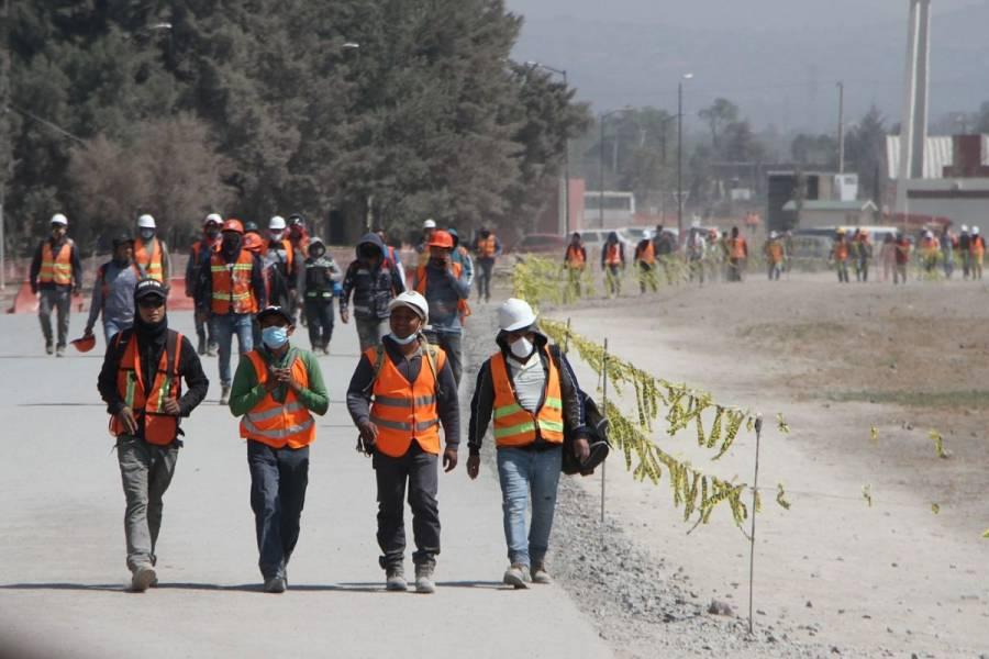 Evacuan zona de construcción en Santa Lucía por tolvanera